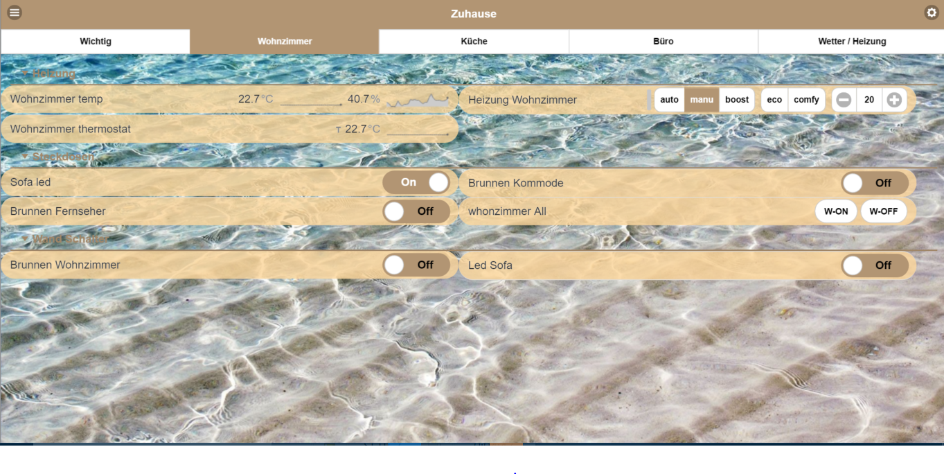 Pimatic Sand Theme